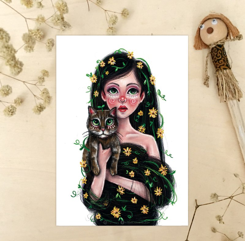 Cat lady Artprint