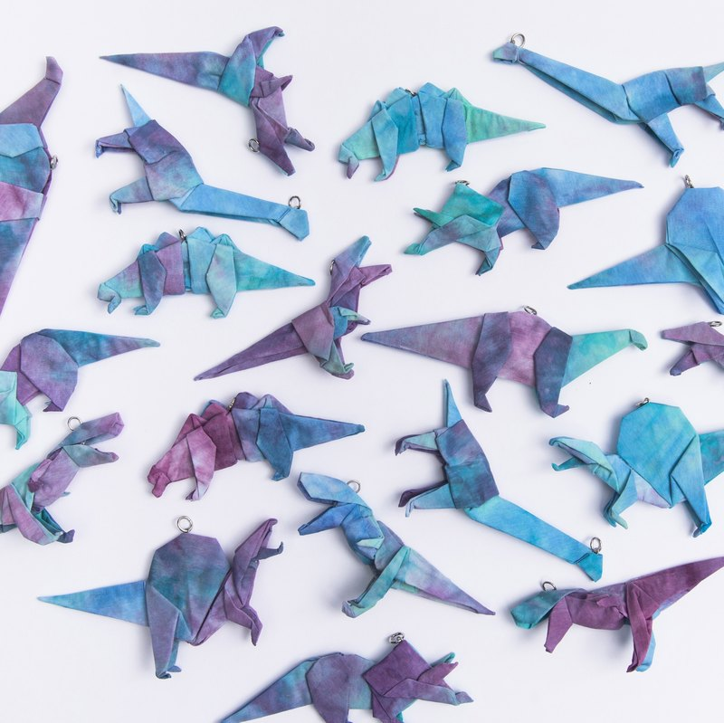 \ Psychedelic Jurassic / origami jewelry triple full range 6 +1