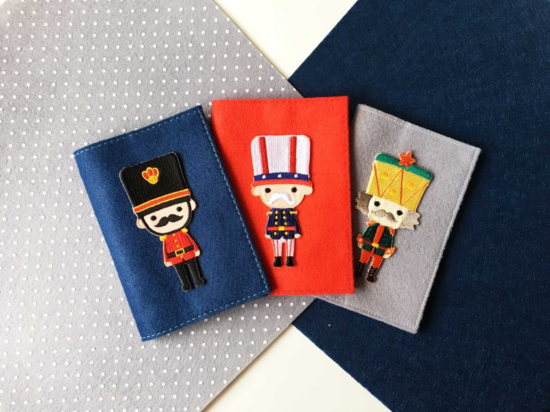 Embroidered soldier passport cover