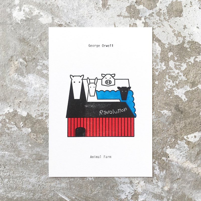 Animal Farm : Limited Edition Letterpress Card
