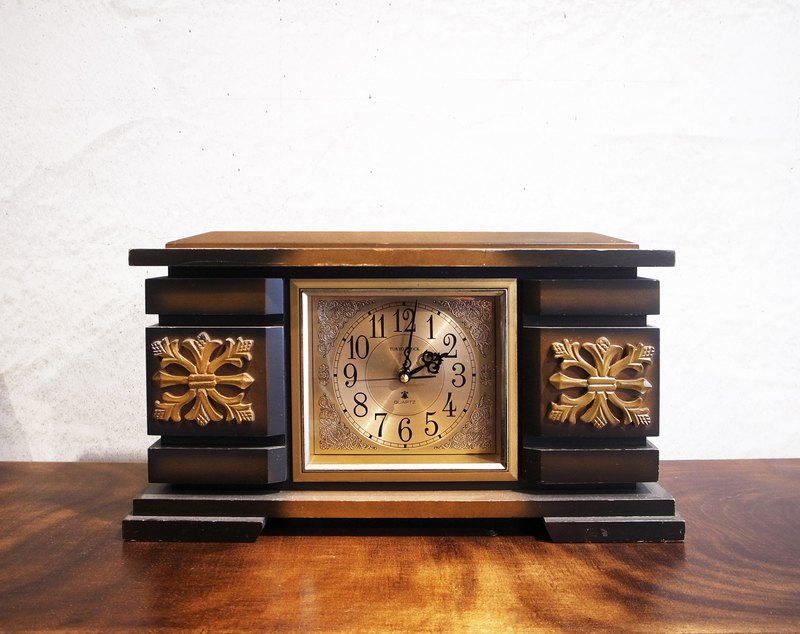 Japanese TOKYO CLOCK antique wooden box old clock 70-80