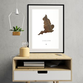England Map poster | Cassette tapes weaving | Retro | Sustainability fashion