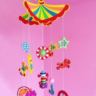 Wooden Circus Hanging Mobile