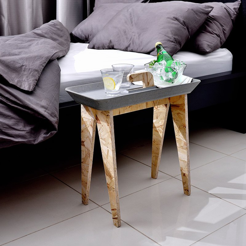 Japanese ideaco wooden tray side table
