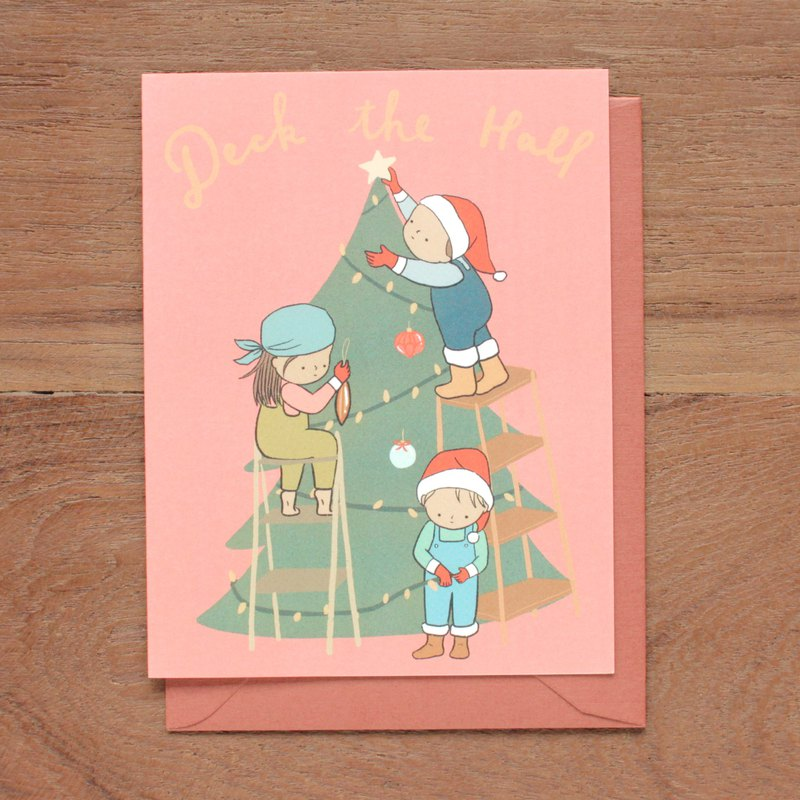 Deck The Hall Christmas Greeting Card