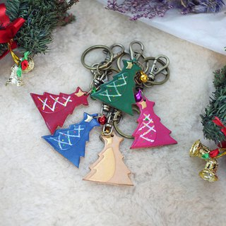 [Christmas limited offer] hand-painted Christmas tree key ring