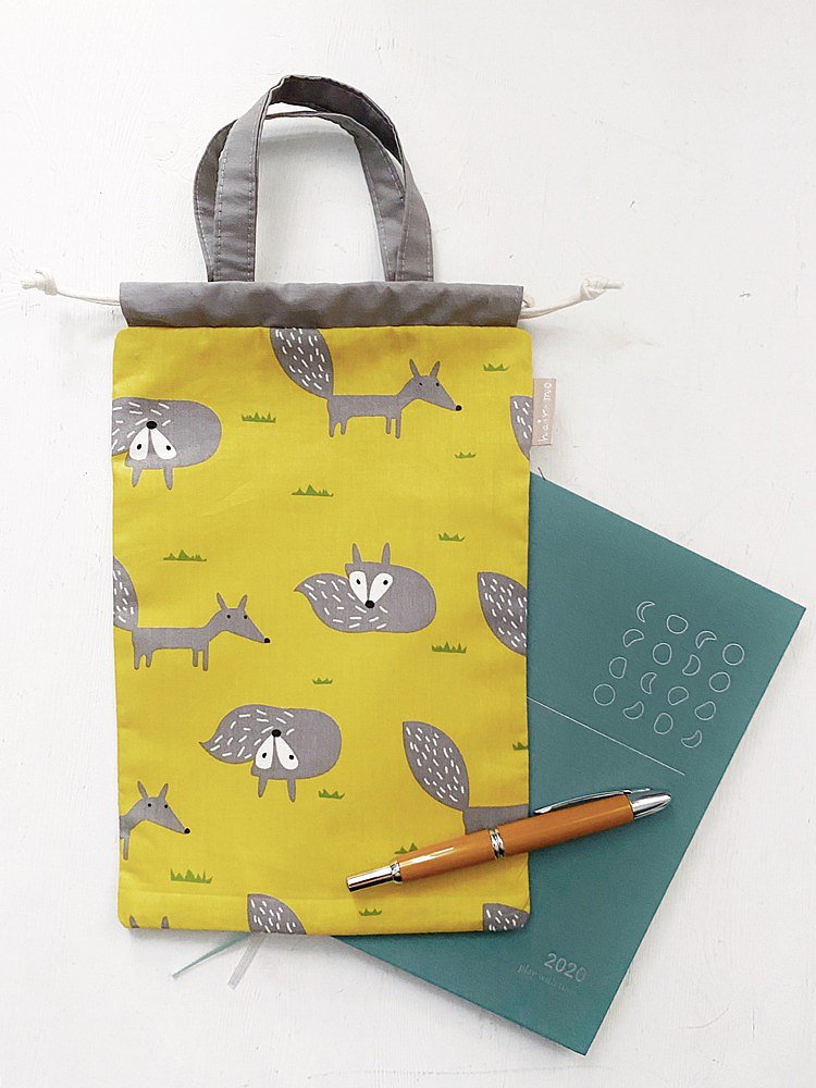 Lazy fox hand account/notepad/small object beam storage bag-yellow (tn/hobo/MD/diary)