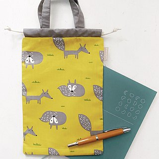 Lazy fox account / Notepad / small bundle mouth storage bag - 2 colors (tn / hobo / MD / diary)