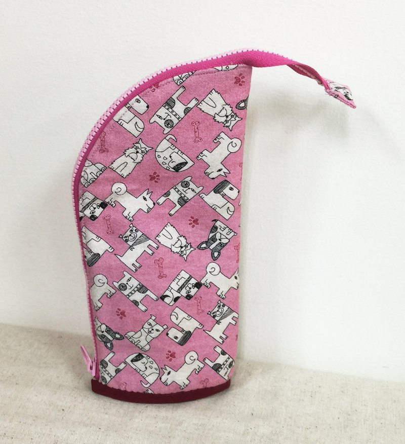 Pencil case - pink dog bag - small