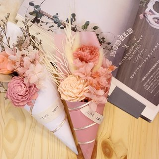 """Spring pink cherry"" does not wither Mother's Day bouquet │ │ │ Carnation Dried Flowers Preserved flowers │ │ │ gift"