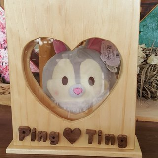 [Xiong can be a wood workshop]//Customized//Romantic wedding small things - Concentric sand photo frame
