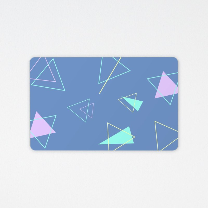 Blue Purple Geometry | Easy Travel Card Utility Gift