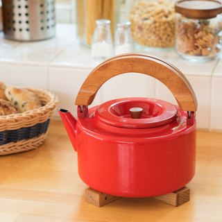 CB Japan Nordic series enamel wood tea dual-use pot