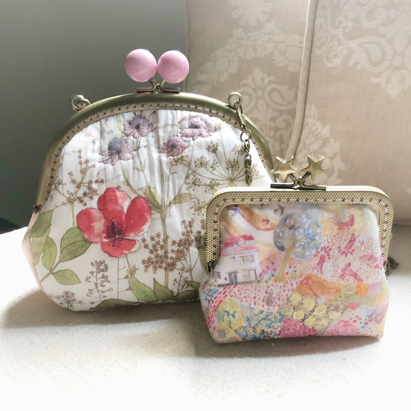 Liberty printed cloth. Card Pack / Coin Purse & Cross Body Bag (Supper Exclusive Order)