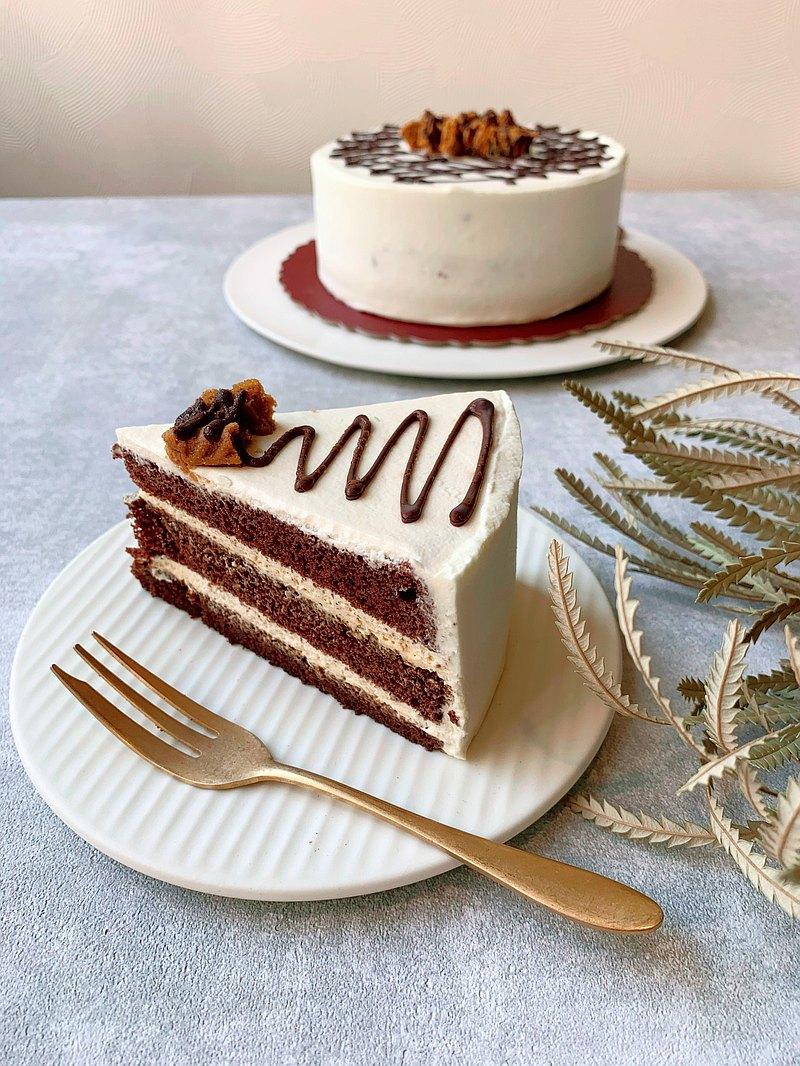 海焦巧克力戚風蛋糕6吋