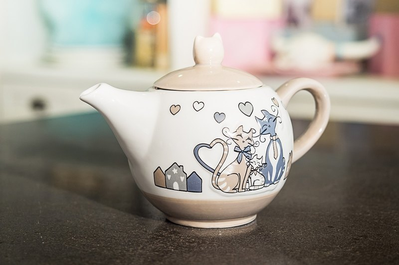 LE CHAT French kitty series _ teapot (2-4 people)