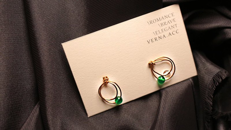 Verna.acc / Donut Series-Green Agate