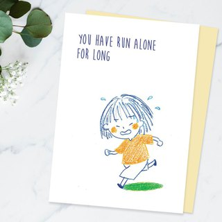 You have run alone for long can i run with you - Sympathy cards / Peach & Coco