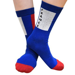 2018 FIFA world cup - Flag Collection Men/Women France Knitted Crew Socks