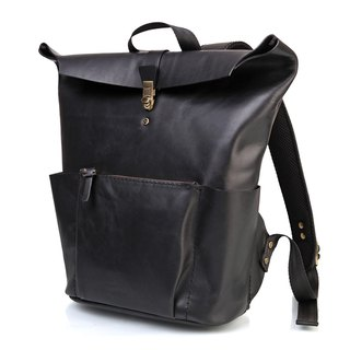 JIMMY RACING brave legend single leather horse leather retro portable / backpack B158S-BK