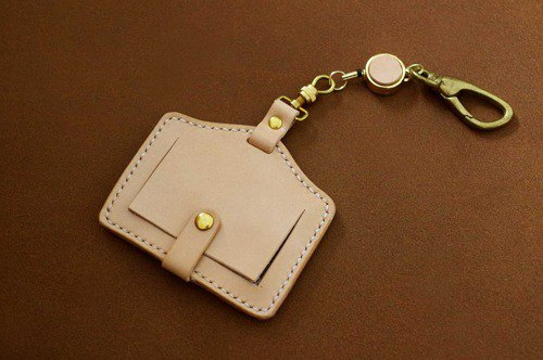 Genuine leather saddle leather IC card holder [Made to order]