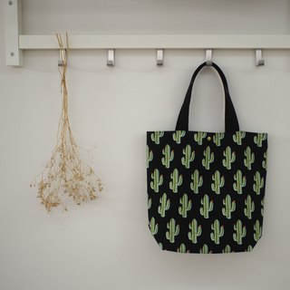 Family wine shoulder bag / tote bag / limited edition handmade bag / cactus / pre-order