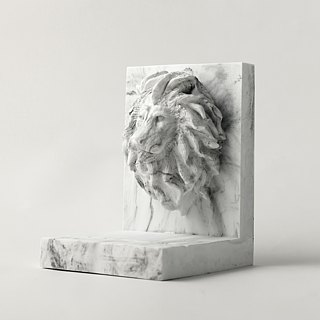 Marble。Bookend。Lion
