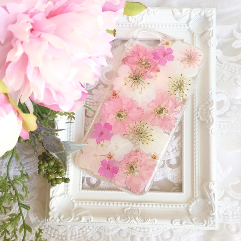 Pressed flower phone case - Pink Blossom for iphone 5/5s/SE/6/6s/6 plus/6s plus