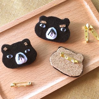 Oops bear  - Black Bear gives the raspberry Brooch