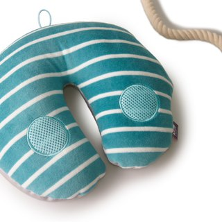 Voyage Travel neck cushion - Blue & White