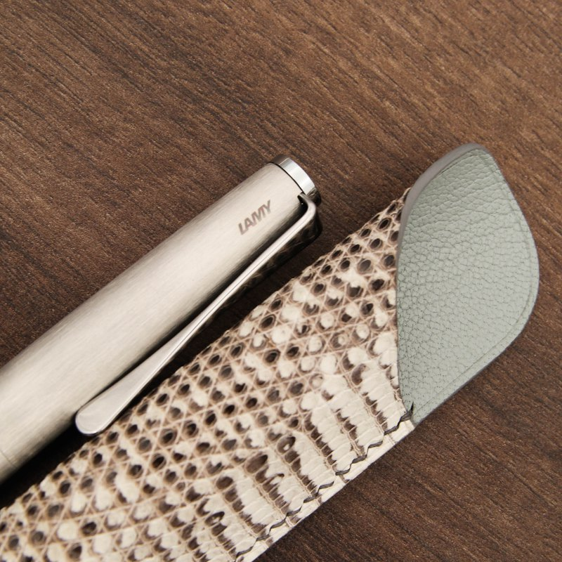 Lizard Leather Pen Case-For LAMY