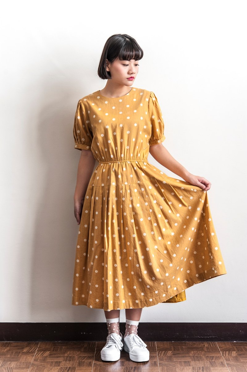 Vintage Shui Yutang Ancient Style Short Sleeve Dress