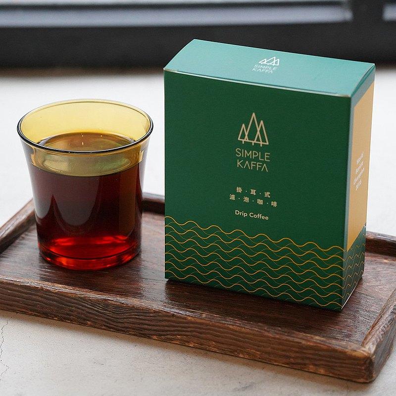 吳則霖Simple Kaffa 濾掛式咖啡6包/盒 x4盒組