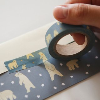 Dailylike single roll of paper tape -53 polar bear, E2D29526
