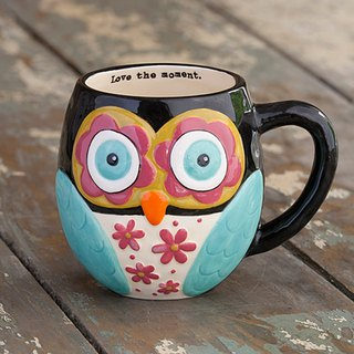 Owl Mug - Black 12oz ∣ MUG151