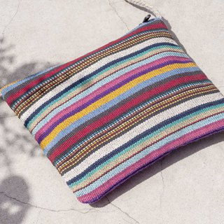 Natural Cotton Lightweight Mobile Phone Bag Backpack Side Backpack Shoulder Bag Tote Bag Shopping Bag - Rainbow Stripe