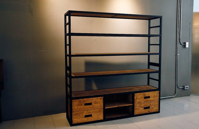 Industrial wind six-story bookcase / locker**double-deck shipping**