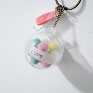 [Q-cute] transparent ball series - transparent ball colorful ball + custom word