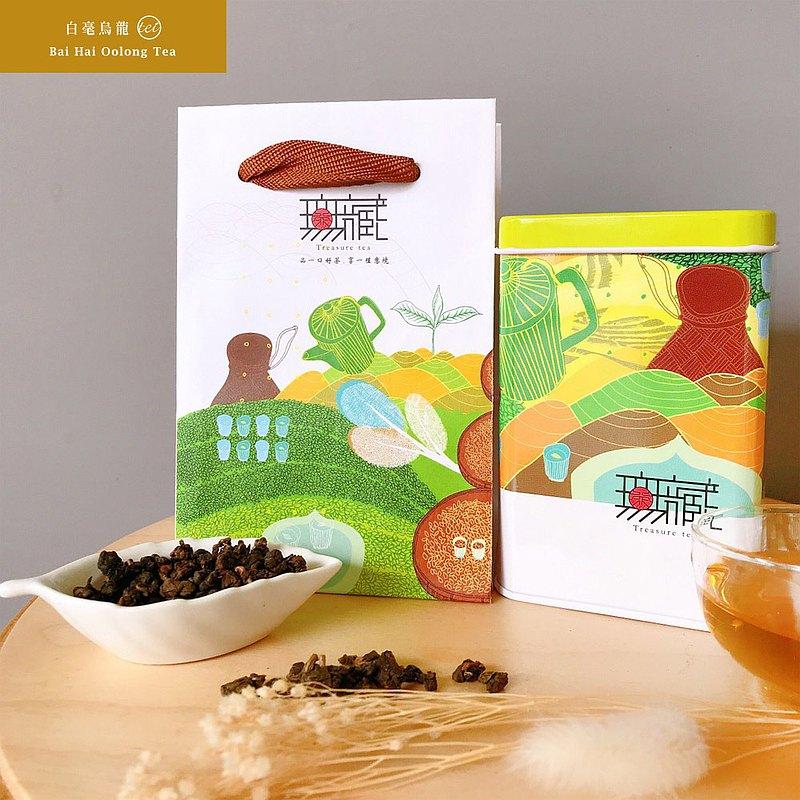 【無藏故事茶】阿里山白毫烏龍茶_夢想之路故事茶_100g鐵罐裝