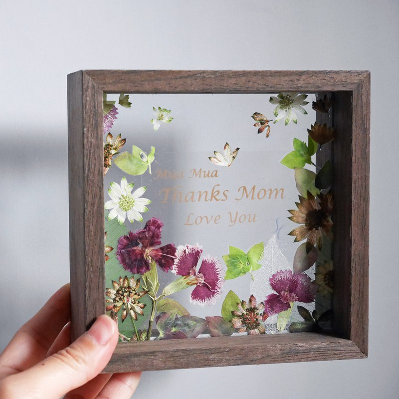 Photo Frame with pressed flowers