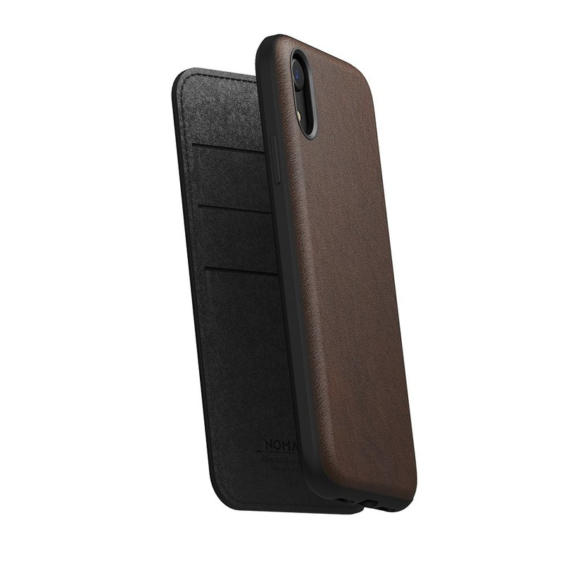 American NOMAD Classic Leather Side Cover - iPhone XR-Brown (855848007663)