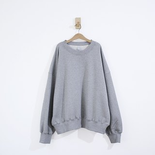 Lightning cuffs thick solid cotton shoulder long sleeve shirt - gray