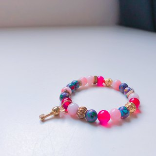 Colorful ore childish pendant semi-precious stones bracelet