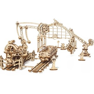 /Ugears/ Ukrainian wooden model machinery town - Rail Manipulator