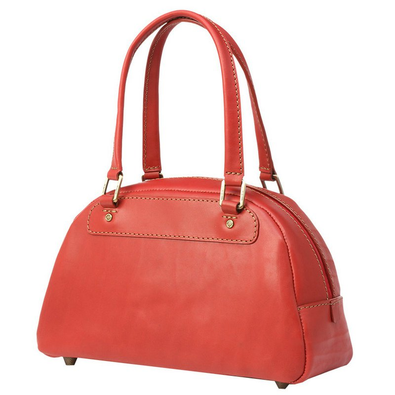 JIMMY RACING leather shoulder bag bowling bag - red 0302138