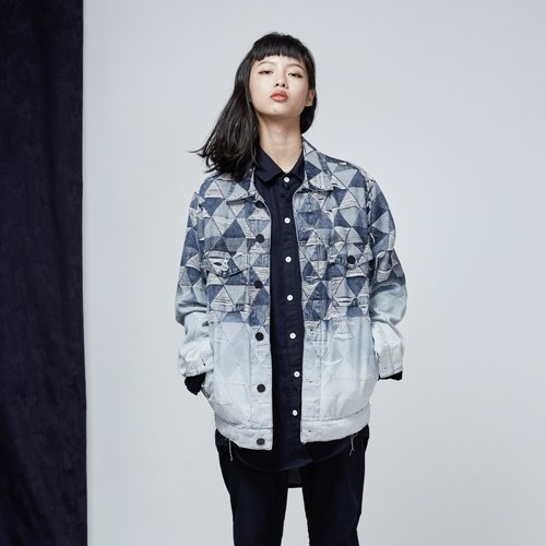 DYCTEAM - Jacquard Denim Jacket 漸層版