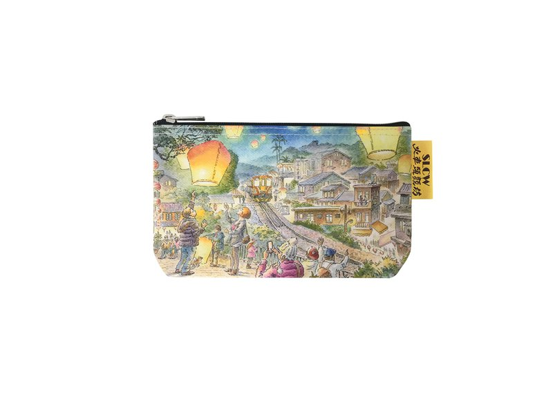 Sunny Bag - Train head Yanfang - Multi-function cotton stationery bag / cosmetic bag - Pingxi Old Street
