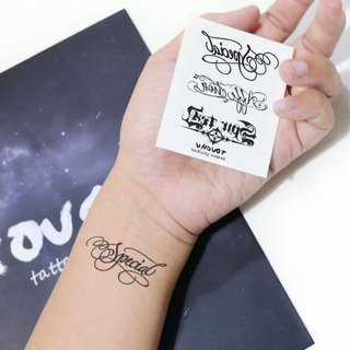 TU Tattoo Sticker - English three collection / Tattoo / waterproof Tattoo / original / Tattoo Sticker