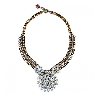 Vintage Legend ネックレス Sunburst rhinestone statement necklace VLNL 01