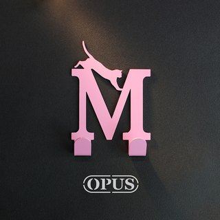 [OPUS East Qi metalworking] when the cat meets the letter M - Hook (pink) / Mural hook / decoration rack / living storage / hanger / modeling hook / trace / girlfriend birthday gift HO-ca10-M )